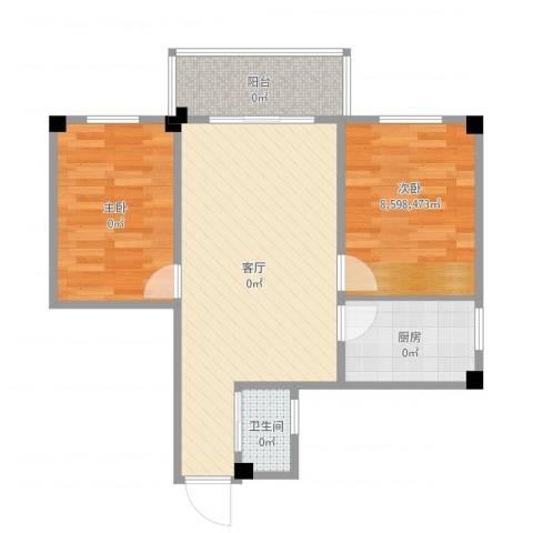 番禺富华楼1室1厅1卫1厨67.00㎡户型图