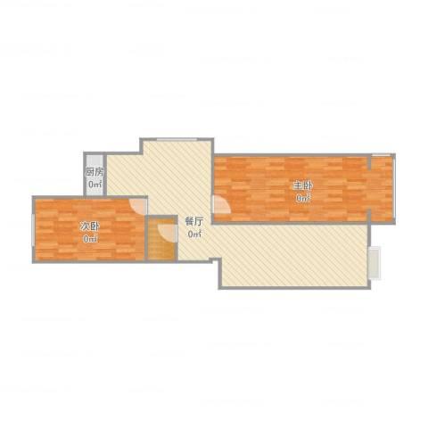 山海宜家8-1-2012室1厅1卫1厨88.00㎡户型图