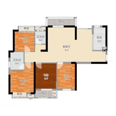 听涛观海龙台4室2厅2卫1厨112.00㎡户型图