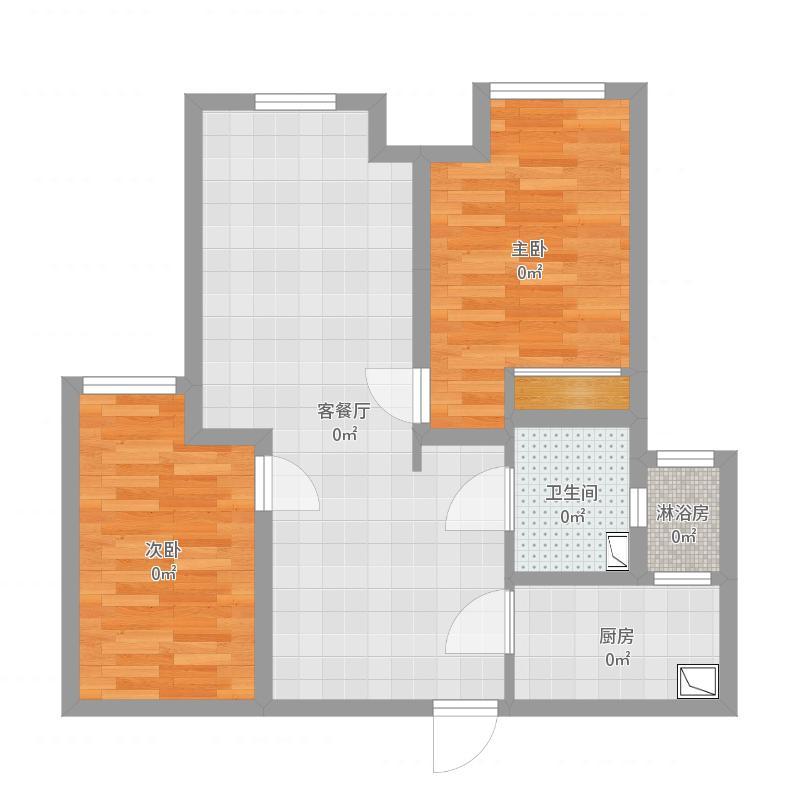 两室两厅一厨一卫78平