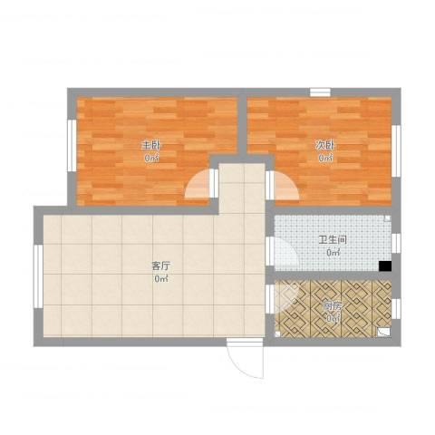 荣溪园2室1厅1卫1厨67.00㎡户型图