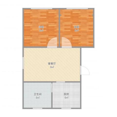 富特五村2室2厅1卫1厨72.00㎡户型图