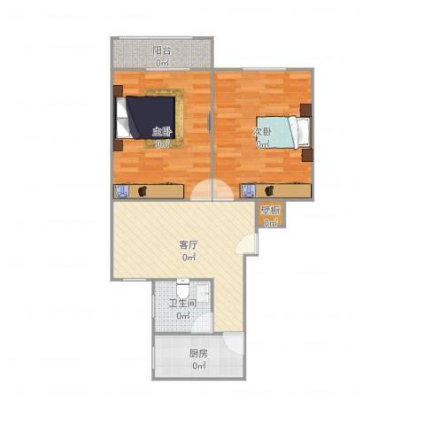 共和三村2室1厅1卫1厨70.00㎡户型图