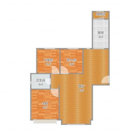 万锦香颂3室1厅1卫1厨109.00㎡户型图