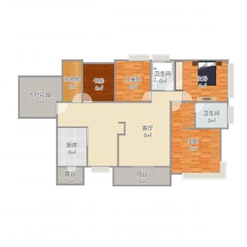 保利拉菲4室1厅3卫2厨179.00㎡户型图