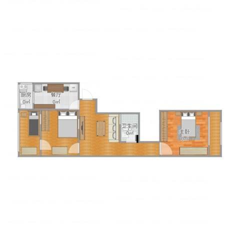 昆璞里1室1厅1卫1厨67.00㎡户型图