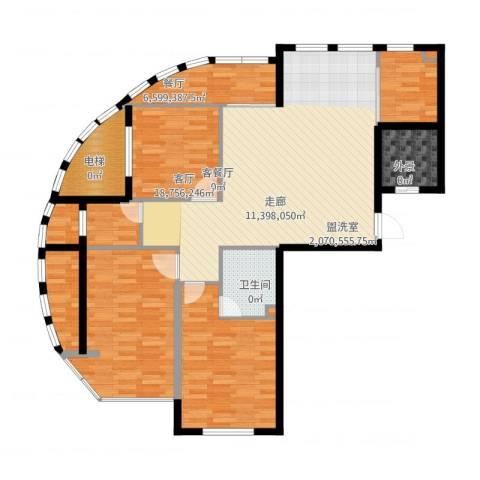 启明星座3室2厅2卫1厨138.00㎡户型图