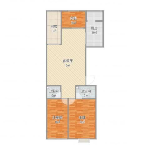 富丽花园4室2厅2卫1厨120.00㎡户型图
