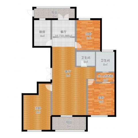 城泰湖韵天成3室1厅2卫1厨151.00㎡户型图