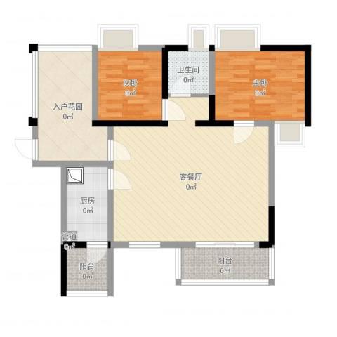 阳光棕榈园2室2厅1卫1厨65.10㎡户型图