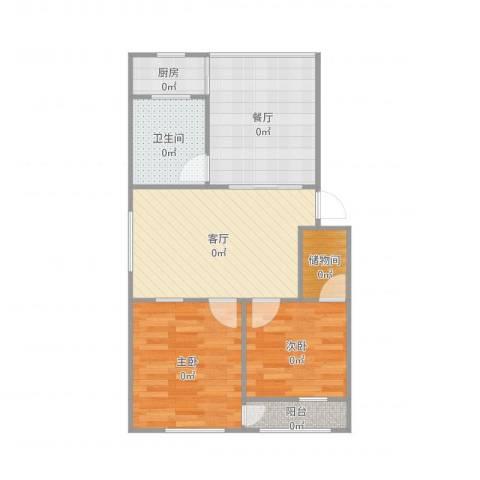 友谊苑2室2厅1卫1厨73.00㎡户型图