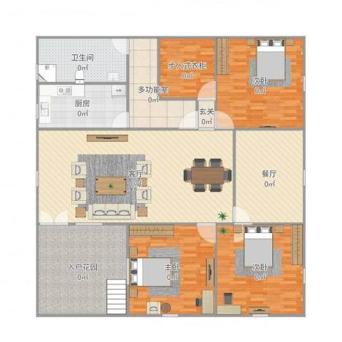 一品观园3室2厅2卫1厨215.00㎡户型图