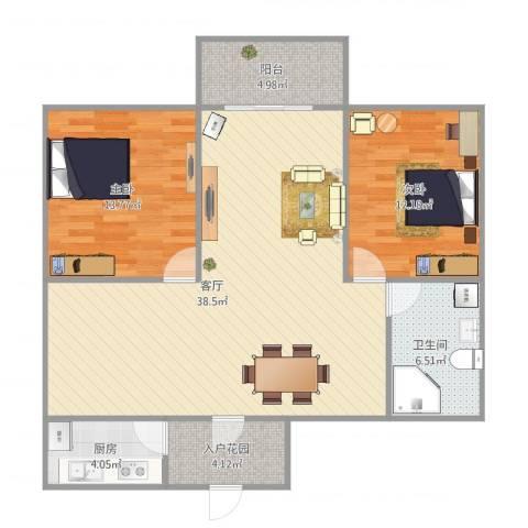 航天佳苑B12室1厅1卫1厨112.00㎡户型图
