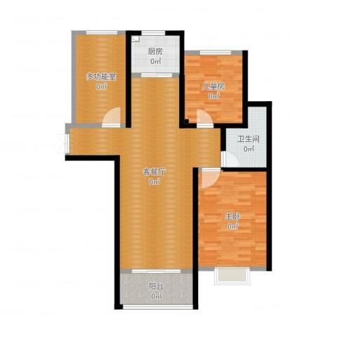 石臼老街2室2厅1卫1厨108.00㎡户型图