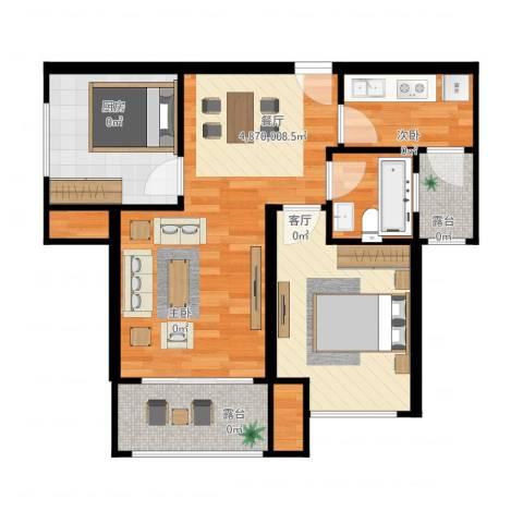 融侨城2室1厅1卫1厨66.00㎡户型图
