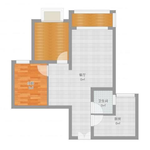 璧山金科中央公园城1室1厅1卫1厨71.00㎡户型图
