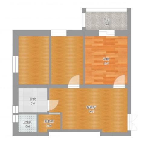 长椿里1室2厅1卫1厨59.00㎡户型图