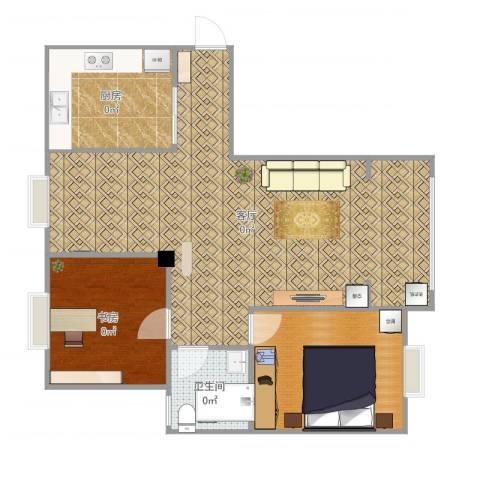东城水岸1室1厅1卫1厨92.00㎡户型图