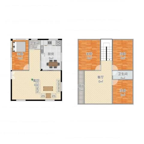 乐雅苑4室2厅2卫1厨202.00㎡户型图