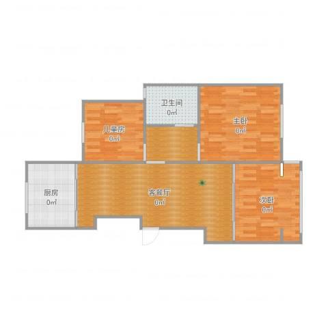 锦绣花苑3室2厅1卫1厨86.00㎡户型图