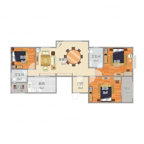 光信国信嘉园3室2厅2卫1厨133.00㎡户型图