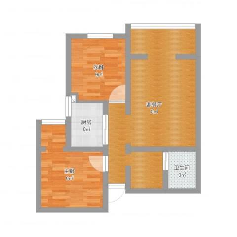 和平里东街9号院1号楼7032室2厅1卫1厨59.00㎡户型图