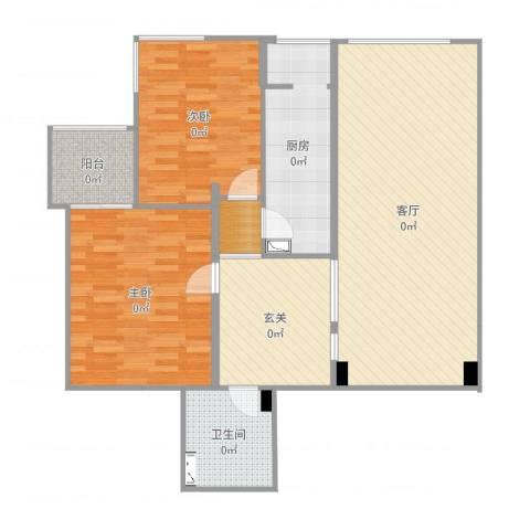 开阳里小区2室1厅1卫1厨115.00㎡户型图