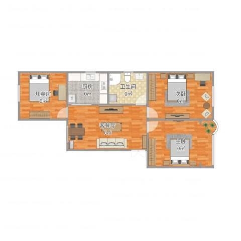 建中路171弄小区3室2厅1卫1厨91.00㎡户型图
