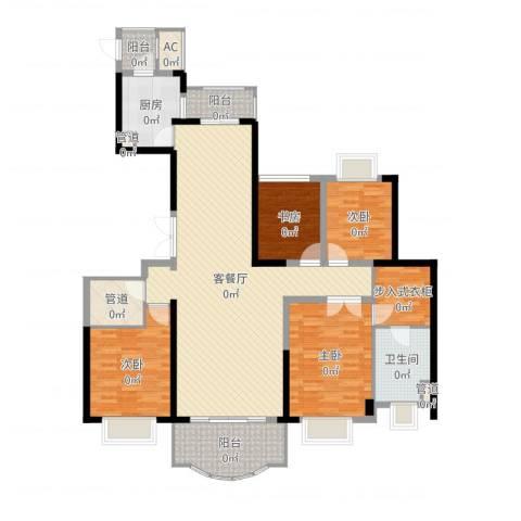 东城万达广场4室2厅1卫1厨157.00㎡户型图