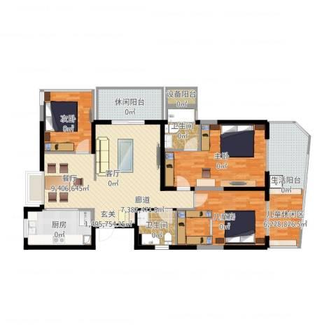 新中国际3室1厅2卫1厨141.00㎡户型图