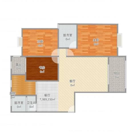 和美星城3室5厅1卫1厨111.00㎡户型图
