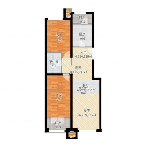 亿城堂庭2室2厅3卫1厨97.00㎡户型图