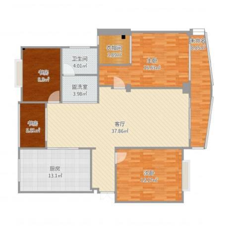 盐城紫薇花园4室3厅2卫1厨159.00㎡户型图