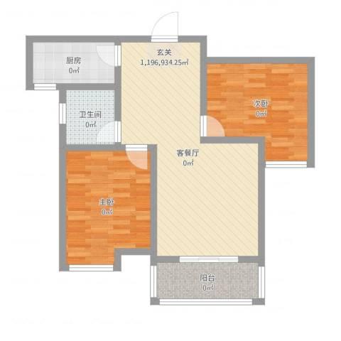 莱茵半岛2室2厅1卫1厨80.00㎡户型图