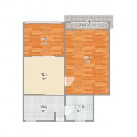 国和一村2室1厅1卫1厨60.00㎡户型图