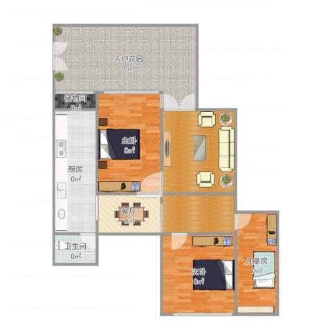 比华利山庄3室1厅1卫1厨131.00㎡户型图