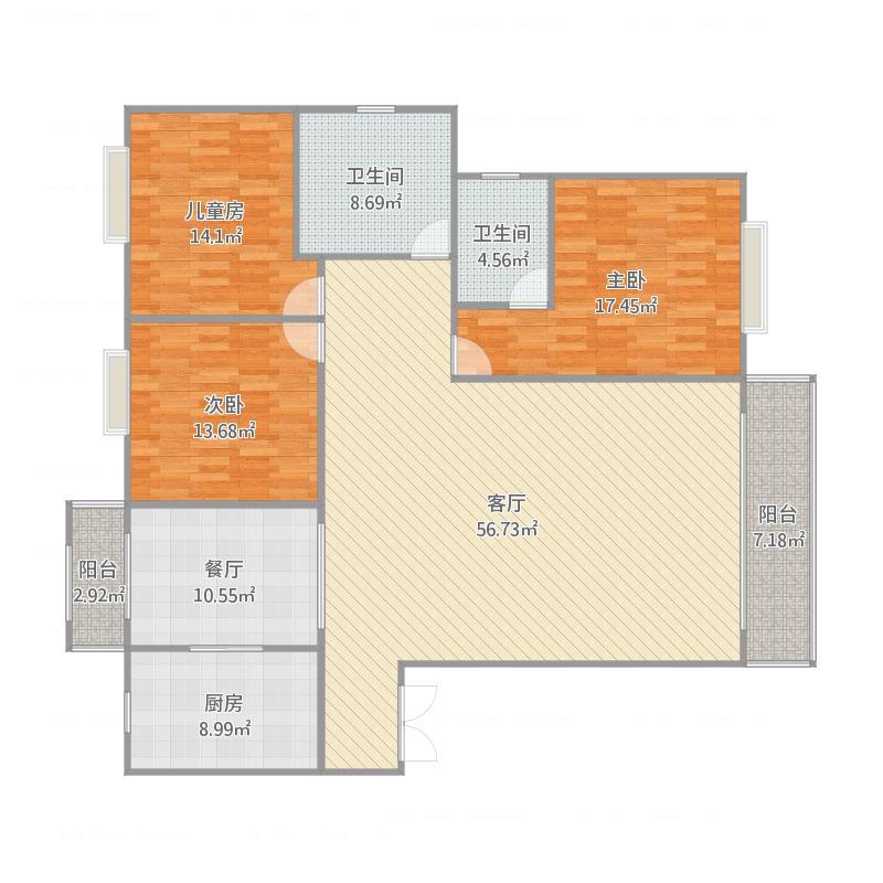 3室两厅1厨1卫