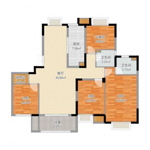 弘阳上城5室1厅5卫4厨133.00㎡户型图