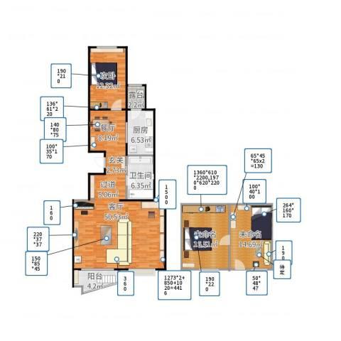 万润家园1室1厅1卫1厨151.00㎡户型图