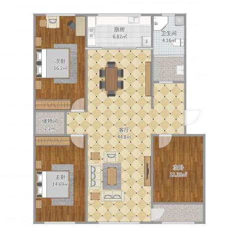 凤鸣郡4室1厅1卫2厨132.00㎡户型图