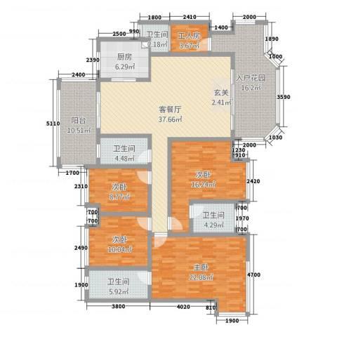 景源公园一号4室2厅4卫1厨184.00㎡户型图