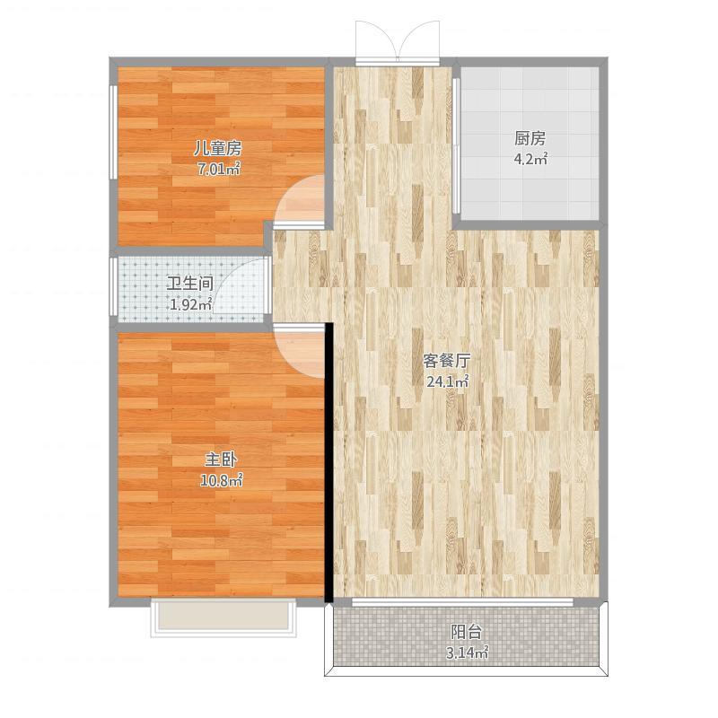万科华府90方A2户型两室两厅