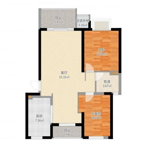 经纬城市绿洲四期泓汇地标3室1厅3卫1厨93.00㎡户型图