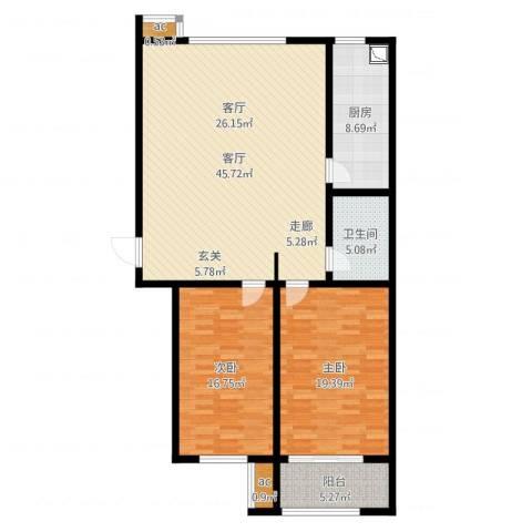 广厦聚隆广场2室1厅1卫1厨128.00㎡户型图