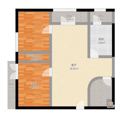 傲城融富中心1室1厅1卫1厨85.00㎡户型图