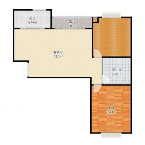 东方名城1室2厅1卫1厨112.00㎡户型图