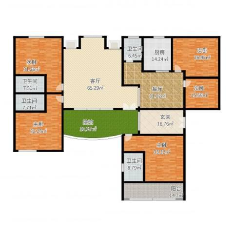 交通新苑5室2厅4卫1厨475.00㎡户型图
