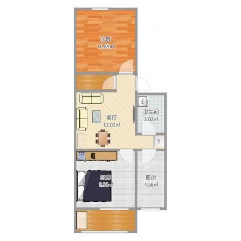 中科院中关村小区1室1厅1卫2厨57.00㎡户型图