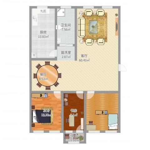清平花园2室1厅1卫1厨150.00㎡户型图