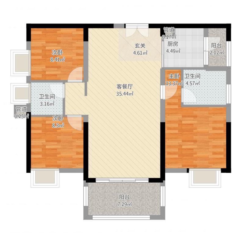 惠州_金山湖凯旋城别墅_高层B1栋C-2户型